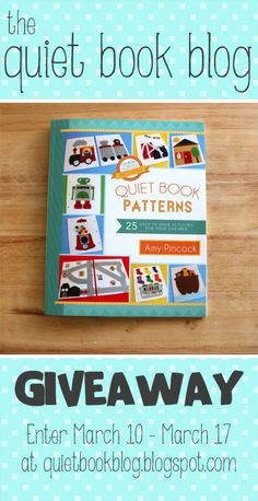 """The Quiet Book Blog: """"Quiet Book Patterns"""" Book Review & Giveaway!"""