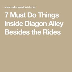 7 Must Do Things Inside Diagon Alley Besides the Rides