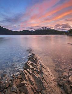Had Lake Minnewanka to myself at Sunset AB Canada [OC][1479x1920]