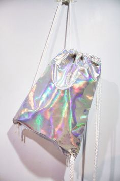 Holographic Drawstring Bag Hologram Backpack by pingypearshop