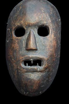 primative masks | Old and strong wooden Gurung mask (29cm) from Palpa district, Nepal ...