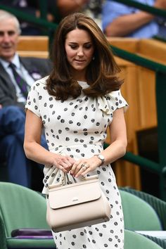 The Duchess of Cambridge is a patron of the All England Lawn Tennis and Croquet Club, which means she is also a royal patron of Wimbledon. She'll also attend the competition tomorrow with Prince William to watch the men's singles final.