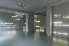"""Joseph Kosuth """"The Wake"""" at Kuad Gallery, Istanbul  http://www.kuadgallery.com/"""