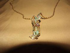 EXTREMELY Rare Kirks Folly Fairy Dust Holder Necklace w/Vial of Fairy Glitter GT #KirksFolly #Pendant