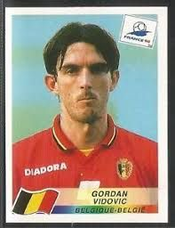 Image result for france 98 panini belgique vidovic Fifa World Cup, Albums, France, Baseball Cards, Stickers, Image, Trading Cards, Decals, French
