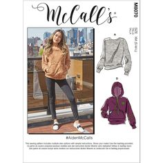 Misses and Mens Tops McCalls Sewing Pattern 8070.