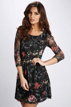 Floral Mesh Skater Dress @ Everything5pounds.com