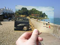 Pier Road then & now, Seaview, Isle of Wight, 7th May 2008