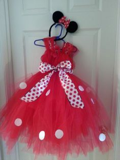 DIY Minnie Mouse tutu dress (for my little girl!!!)