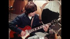 George Harrison owned and played many guitars in his career, particularly in his time after The Beatles, when he amassed a sizeable collection. This post simply aims to catalogue the important elec… Beatles Guitar, Beatles Art, The Beatles, In His Time, Playing Piano, Ringo Starr, George Harrison, Great Bands, Paul Mccartney