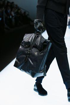 Giorgio Armani Fashion Show Menswear Collection Fall Winter 2016 in Milan