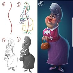 """84 Likes, 5 Comments - Mitch Leeuwe (@mitchleeuwe) on Instagram: """"1.line of action 2.construction 3.details 4.values 5.color Steps of a drawing. Wich number would…"""""""