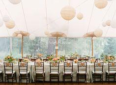 pretty coral wedding