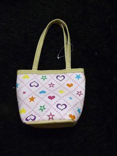 new whimsical pink stars hearts mini handbag  girl's purse children