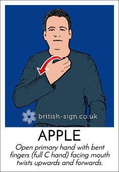 Today's #BritishSignLanguage sign is: APPLE #EatARedAppleDay