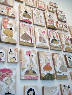 Cori Dantini { great wall of art } Mixed Media Canvas, Mixed Media Art, Art Journal Inspiration, Painting Inspiration, Illustrations, Graphic Illustration, Digital Art Beginner, Orange Painting, Collage