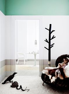 great mint green trim, via the design chaser / sfgirlbybay