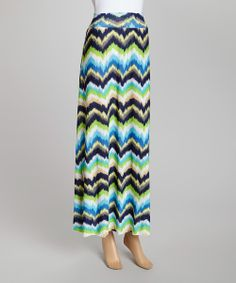 Take a look at the Sky Blue Zigzag Maxi Skirt on #zulily today!