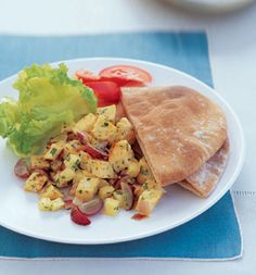 Grilled Curried Chicken Salad Pita. Less than 300 calories a sandwich ...