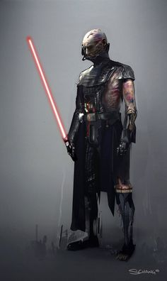 Darth Vader concept art by Stephen Chang created for Star Wars: The Force Unleashed I & II.