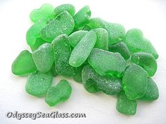 COWGIRL Green Sea Glass for Sale - 32 pieces ~ for jewelry, art, crafting - Genuine Beach Glass - PS1890 by OdysseySeaGlass on Etsy