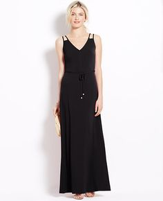 Petite Double Strap Maxi Dress