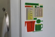 Awesome and really practical cooking metric conversion refrigerator magnet. Can make an amazing birthday gift as well! http://www.amazon.com/Metric-Conversion-Includes-Measurement-Temperature/dp/B00H98X4H2
