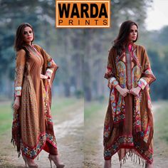 Warda Silk Kurrandy winter Embroidered Collection 2014