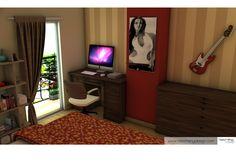 bedroom 3D visualization 3d Visualization, My Works, Corner Desk, Bedroom, Furniture, Home Decor, Corner Table, Decoration Home, Room Decor