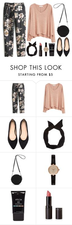 """""""Untitled #50"""" by pikapikeh ❤ liked on Polyvore featuring J.Crew, MANGO, New Look, Vans, Barbour and Stila"""
