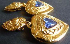 Vintage YSL earrings pendants Yves par VintageParisLuxe sur Etsy