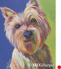 Mac Pet Dog Portrait ~ Meg Harper ~ Meg Harper Art   Are you looking for a painting of your magnificent pet? Have Meg create a pet portrait just for you, today.    #dog #puppy #best friend #inspirational #kindness #animalpainting #art #painting #pets #petportrait #animal #love #megharper #megharperart