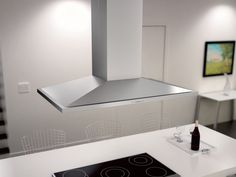 Zephyr Anzio Island Range Hood - Core Collection | Zephyr Island Range Hood, Range Hoods, Stainless Steel Island, Vent Hood, Core Collection, New Kitchen, Minimalist Design, Home Kitchens, Kitchen Remodel