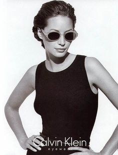 Calvin Klein Eyewear Fall/Winter 1996. Christy Turlington by Peter Lindbergh