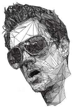Triangulations Portraits - Johnny Knoxville by Josh Bryan