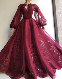 Burgundy QueenLove TMD Gown – Teuta Matoshi