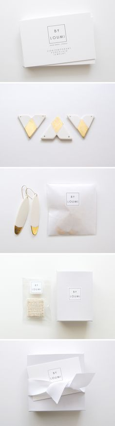 Packaging + identity | minimalist + beautiful | By Loumi jewelry