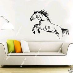 horse Vinyl Home Wall Art Decal Sticker Mural by yitingsticker, $15.99