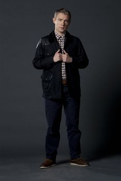 Dr John Watson (Martin Freeman) Sherlock promo photo