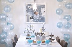 Billedresultat for vimpel barnedåp Boys 1st Birthday Party Ideas, 1st Boy Birthday, Blue Balloons, Our Baby, Holidays And Events, Christening, First Birthdays, Projects To Try, Baby Shower