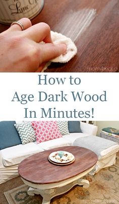 The best DIY projects & DIY ideas and tutorials: sewing, paper craft, DIY. Diy Crafts Ideas How To Age Dark Wood In Minutes and Get a Beachy Driftwood Look. Furniture Projects, Furniture Makeover, Diy Furniture, Craft Projects, Furniture Vintage, Wood Projects, Dark Wood Furniture, Repurposed Furniture, Painted Furniture