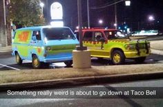 I don't know what's going on here but I wish I was there! #JurassicPark #ScoobyDoo