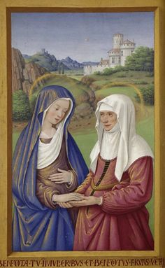 Jean Bourdichon, Visitation of St. Anne, c. 1503-1508. Great Hours of Anne of Brittany.