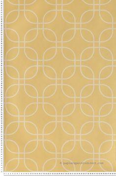 Losanges moutarde papier peint skandinavia de lutece for Moquette jaune moutarde