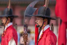 Royal guard in Gyeongbokgung - The amazing Royal Guard Changing Ceremony in Gyeongbokgung (Royal Palace) in Seoul, South Korea