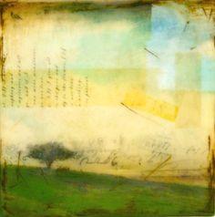 Morning Revelations - mixed media encaustic
