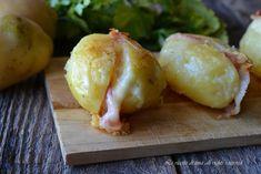 Patate farcite con pancetta in padella,un contorno delizioso e facile da preparare