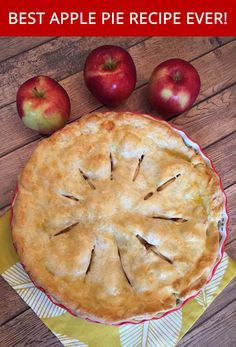 This made-from-scratch apple pie is the king of all apple pies!  Sweet apples with a perfect texture and a hint of cinnamon nested between the flaky tender crust dough - this is the best apple pie recipe ever! This made-from-scratch apple pie is simply out of this world!  I've never tasted an apple pie better than this one, not even in the best restaurants.  Once you try this apple pie recipe, you'll never use another apple pie recipe ever again! What makes this apple pie so great is the…
