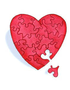 Putting back together the pieces of a broken heart