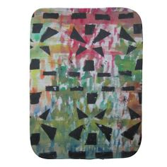 Abstract Colorful Burp Cloth by Natural View